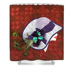 Hat Trick Shower Curtain by Jo Baner