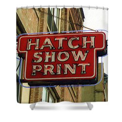 Hatch Show Print Shower Curtain
