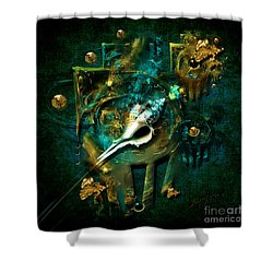 Hatpin Shower Curtain