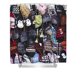 Hats Shower Curtain by Henri Irizarri