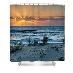 Hatteras Dawn Shower Curtain by Eric Albright