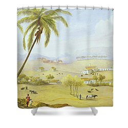 Haughton Court - Hanover Jamaica Shower Curtain by James Hakewill