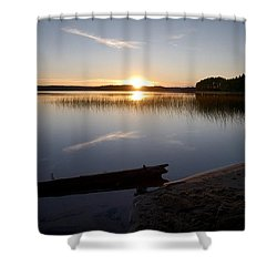 Shower Curtain featuring the photograph Haukkajarvi Evening by Jouko Lehto