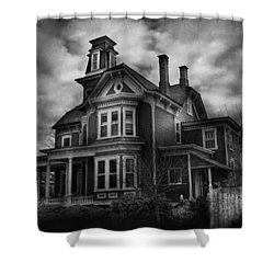 Haunted - Flemington Nj - Spooky Town Shower Curtain by Mike Savad