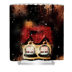 Haunted Doll House Shower Curtain