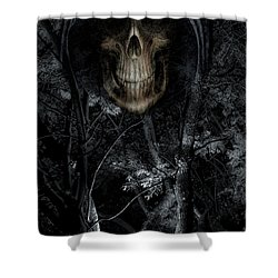 Shower Curtain featuring the photograph Haunted Forest by Al Bourassa