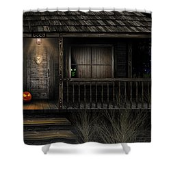 Haunted Halloween 2016 Shower Curtain