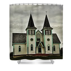 Haunted Kipling Church Shower Curtain