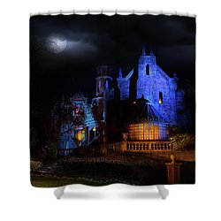 Haunted Mansion At Walt Disney World Shower Curtain by Mark Andrew Thomas