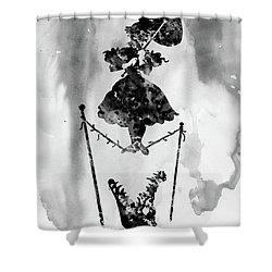 Haunted Mansion Black Shower Curtain
