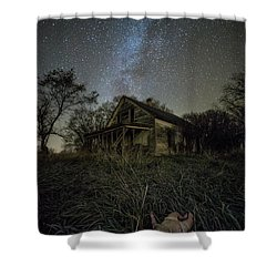 Shower Curtain featuring the photograph Haunted Memories by Aaron J Groen