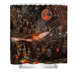 Haunted Pumpkin Patch Shower Curtain