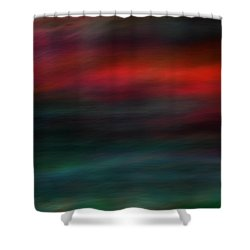 Haunted Shower Curtain by Robin Dickinson