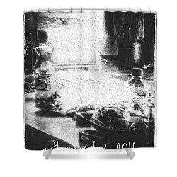 Shower Curtain featuring the photograph Haunted Room I by Mimulux patricia no No