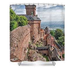 Haut-koenigsbourg Shower Curtain by Alan Toepfer