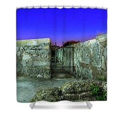 Havana Blue Nights Shower Curtain