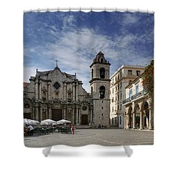 Havana Cathedral. Cuba Shower Curtain