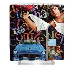 Havana City Shower Curtain by Jorge L Martinez Camilleri