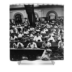 Havana Cuba - Cigars Being Rolled - C 1903 Shower Curtain by International  Images