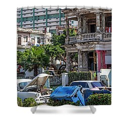 Shower Curtain featuring the photograph Havana Cuba by Charles Harden