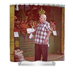 Shower Curtain featuring the photograph Havana Cuba Corner Market by Joan Carroll