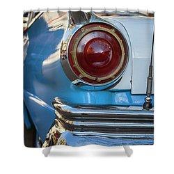 Shower Curtain featuring the photograph Havana Cuba Vintage Car Tail Light by Joan Carroll
