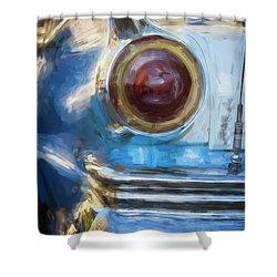 Shower Curtain featuring the photograph Havana Cuba Vintage Car Tail Light Painterly by Joan Carroll