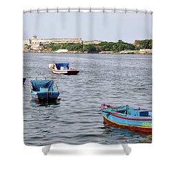 Havana Harbor Shower Curtain
