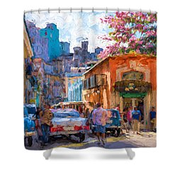 Havana In Bloom Shower Curtain by Les Palenik