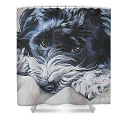 Havanese Black And White Shower Curtain