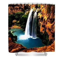 Havasu Waterfall Shower Curtain