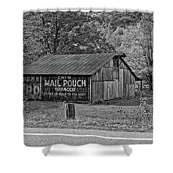 Have A Chaw Monochrome Shower Curtain by Steve Harrington