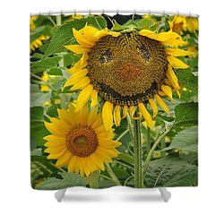 Have A Groovy Day Said The Hippie Flower Shower Curtain