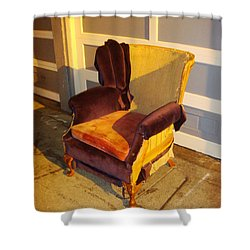 Shower Curtain featuring the photograph Have A Seat In Dore Alley by Mr Photojimsf