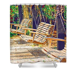 Shower Curtain featuring the photograph Have A Seat Relax by Donna Bentley