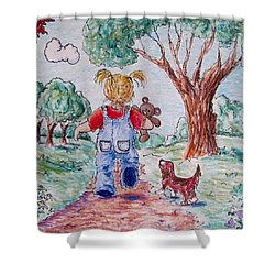Have Bear, Will Travel Shower Curtain