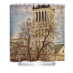 The Church On Oak Street Shower Curtain