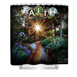 Shower Curtain featuring the digital art Have Faith by Kathy Tarochione