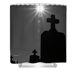 Have Faith...bw Shower Curtain by Karol Livote
