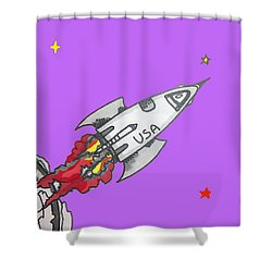 Have Spacesuit Will Travel Shower Curtain