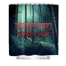 Shower Curtain featuring the digital art Have You Seen Me by Mo T