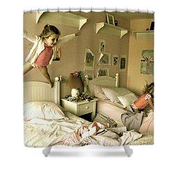Having A Blast Shower Curtain by Valerie Rosen