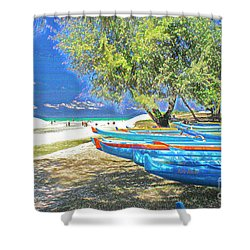 Hawaii Boats Shower Curtain