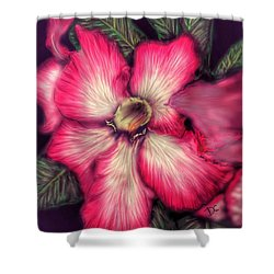 Shower Curtain featuring the digital art Hawaii Flower by Darren Cannell