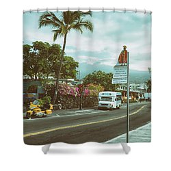 Hawaii Ironman Start Point  Shower Curtain