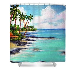 Hawaii North Shore Oahu #472 Shower Curtain by Donald k Hall