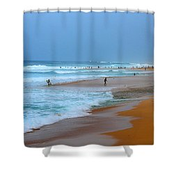 Hawaii - Sunset Beach Shower Curtain