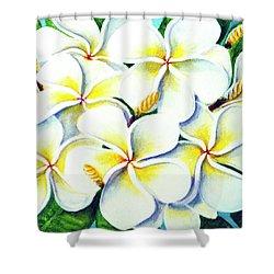 Hawaii Tropical Plumeria Flower #224 Shower Curtain by Donald k Hall