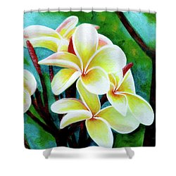 Hawaii Tropical Plumeria Flower #225 Shower Curtain by Donald k Hall