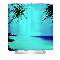 Hawaiian Beach Art Painting #188 Shower Curtain by Donald k Hall